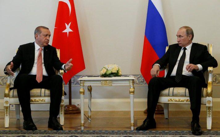 R.T. Erdoganas ir V. Putinas