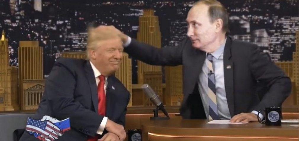 Daily Mail: Trampo ir Putino draugystė internete apdainuojama kantri stiliumi
