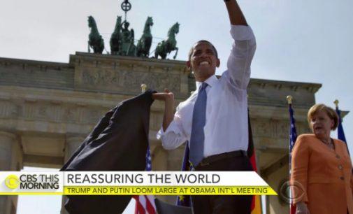 CBS: Merkel ir Obama skuba pratęsti sankcijas, kol Trampas nepradėjo eiti pareigų