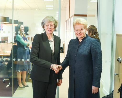 Dalia Grybauskaitė ir Theresa May