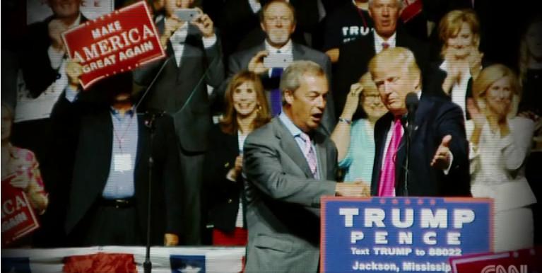 Donald Trum ir Nigel Farage