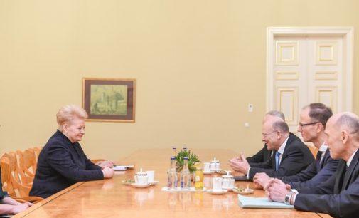 Šalies vadovė Dalia Grybauskaitė susitiko su ES Teisingumo Teismo pirmininku