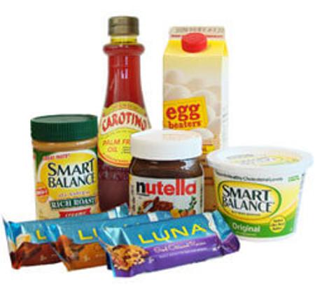 palmių aliejaus produktai