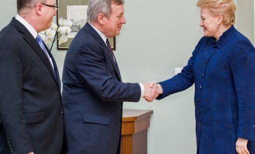 Prezidentė susitiko su Jungtinių Amerikos Valstijų senatoriumi Richardu Durbinu