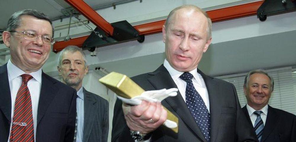 Vladimiras Putinas su auksu