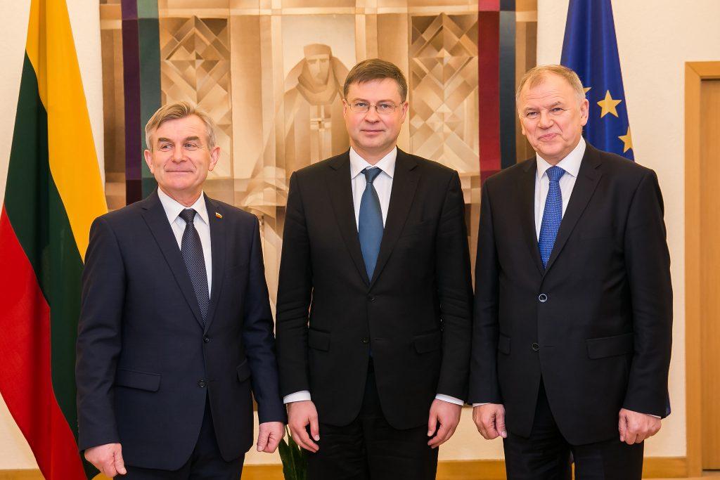 Pranckietis, Domrovskis, Andriukaitis.