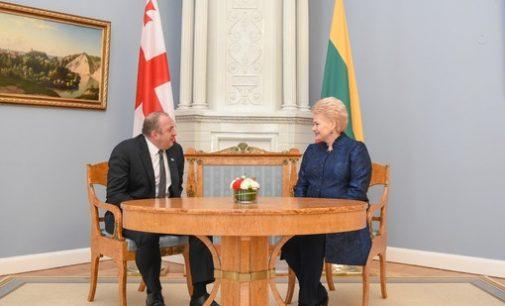Lietuvos Prezidentė Dalia Grybauskaitė susitiko su Gruzijos Prezidentu Georgijumi Margvelašviliu