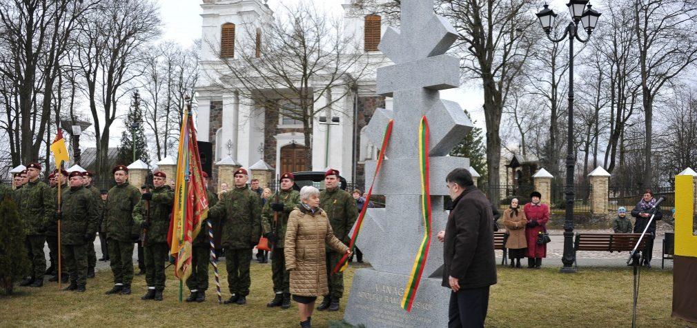Pagerbti už Lietuvos laisvę galvas paguldę partizanai