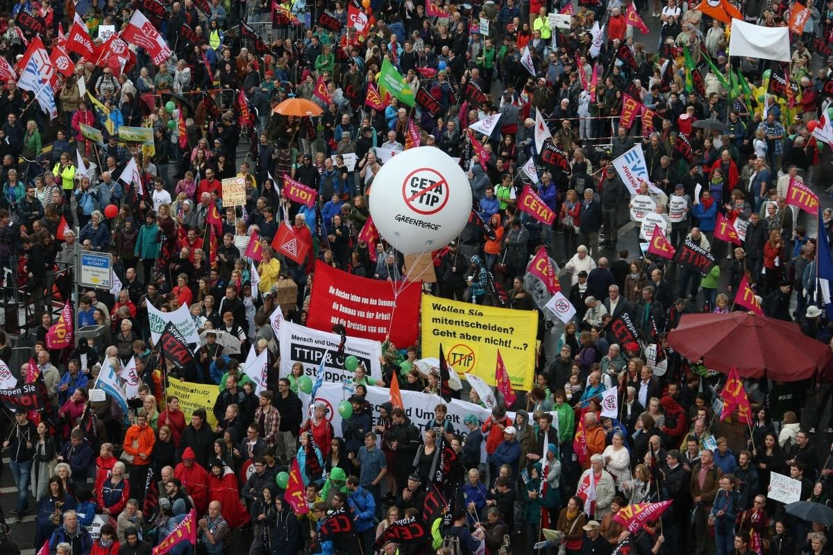 protestas prieš CETA berlyne