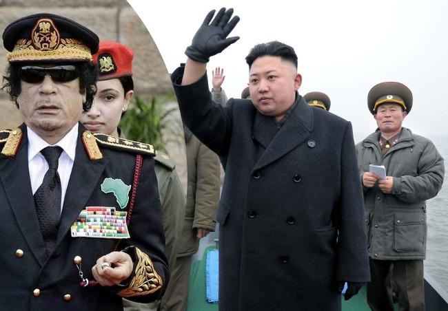 Muamaras Kadafis ir Kim Jong Unas