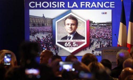 Makronas laimi Prancūzijos prezidento rinkimuose