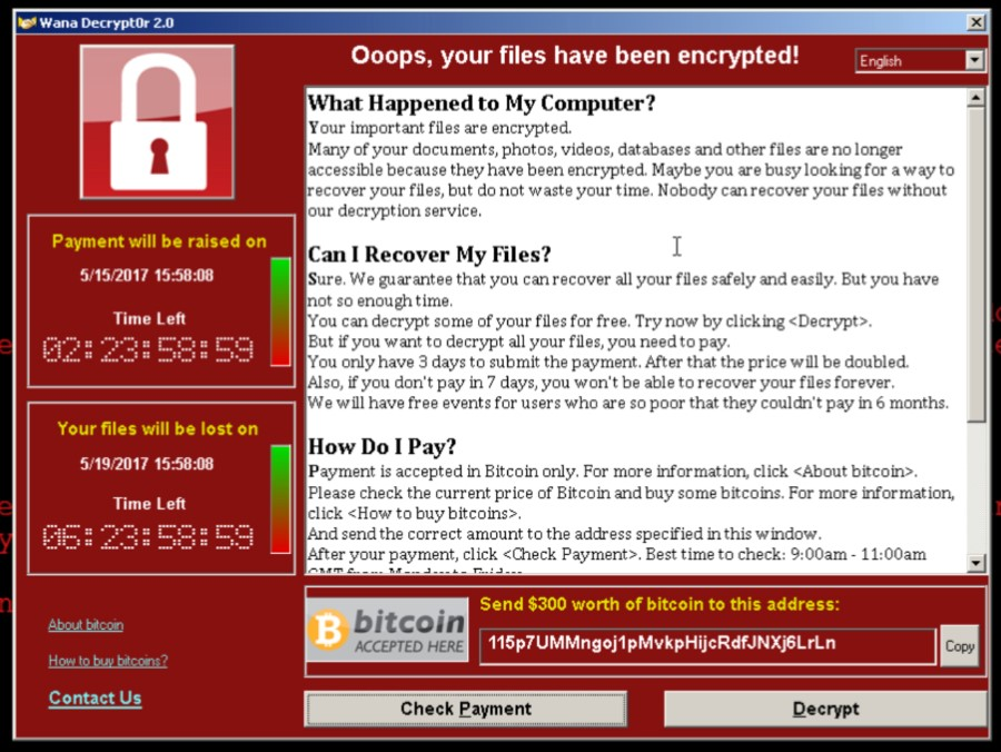 WannaCrypt virusas