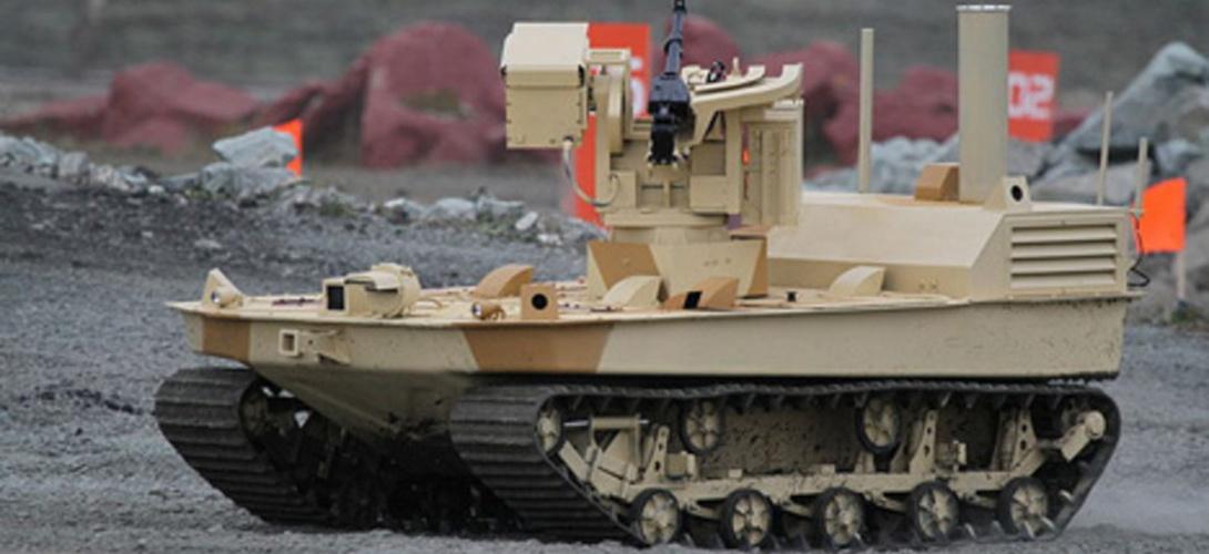 Distanciniu būdu pilotuojamas tankas