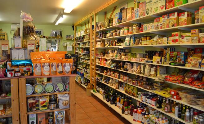 Maisto produktų lentynos