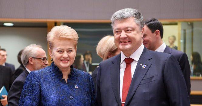 Dalia Grybauskaitė, Petro Porošenka