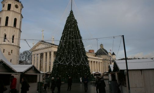 Vilniuje šią savaitę bus įžiebta Kalėdinė miesto eglė