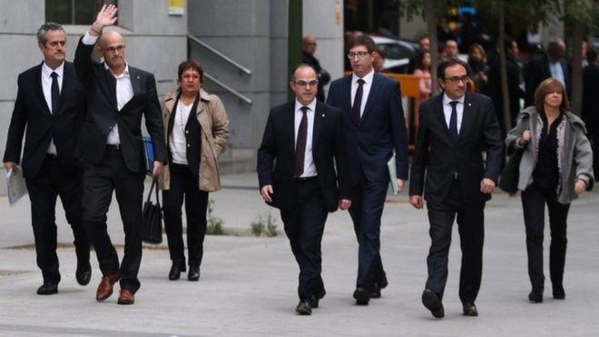Katalonijos vyriausybės nariai