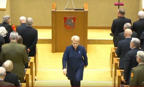 Nijolės Sadūnaitės baigiamasis klausimas Laisvės gynėjų dienos minėjimo Seime metu taip ir liko be atsakymo