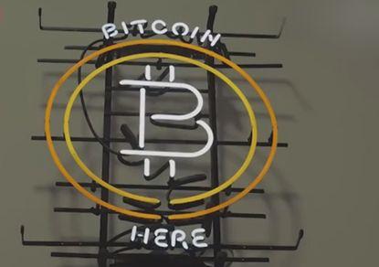 Bitkoinas čia