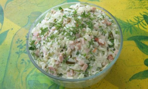 Paprastos ir labai skanios salotos su ryžiais bet kuriai progai