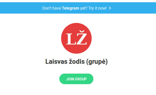 telegram laisvas zodis