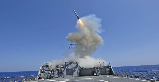 raketos ataka | photo: U.S. Navy