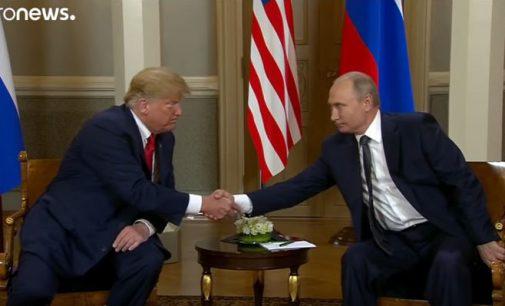 """Susitikimas įvyko: Trampas tikisi """"puikių santykių"""" su Putinu"""