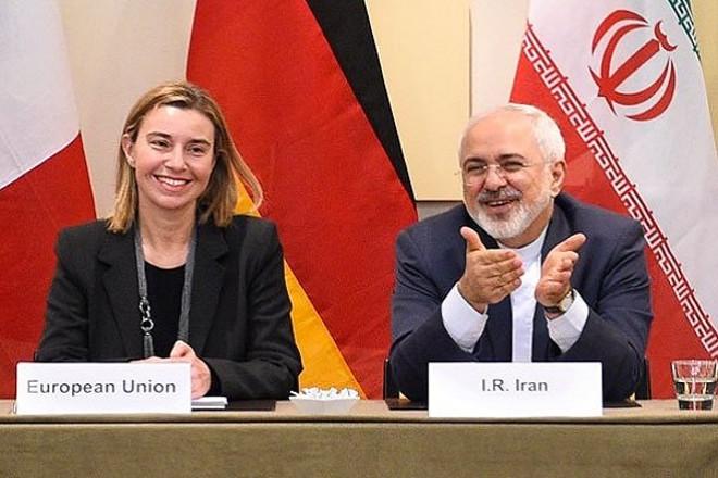 Federica Mohgerini ir Mohammad J Zarif