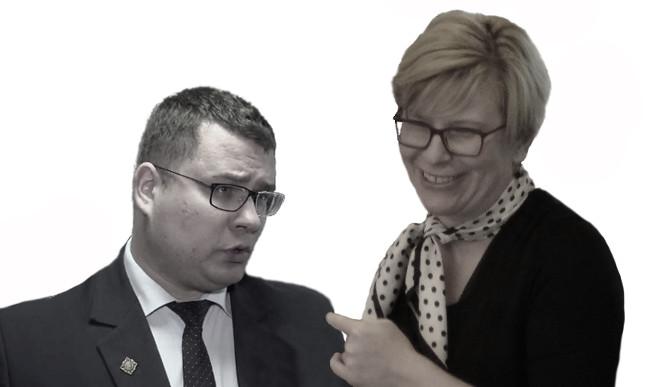 Laurynas Kačiunas ir Ingrida Šimonytė