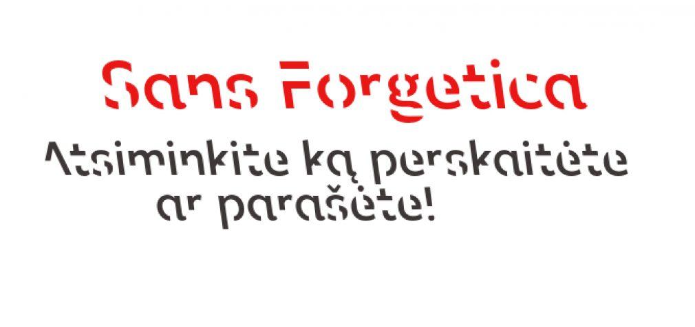 Sans Forgetica: Sukurtas šriftas, padedantis įsiminti tai, ką perskaitėte ar parašėte