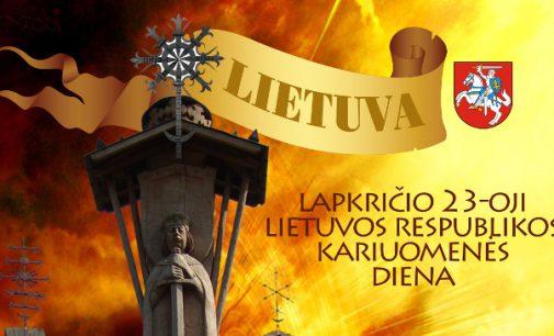 Tautvilas Rinkevičius. Lietuvos kariuomenės dienai