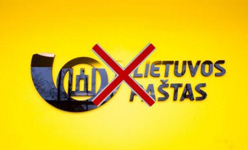 """Seimas atsisako """"Lietuvos pašto"""" paslaugų, referendumų aptarnavimą priskirdamas komisijoms ir kurjerių tarnyboms"""