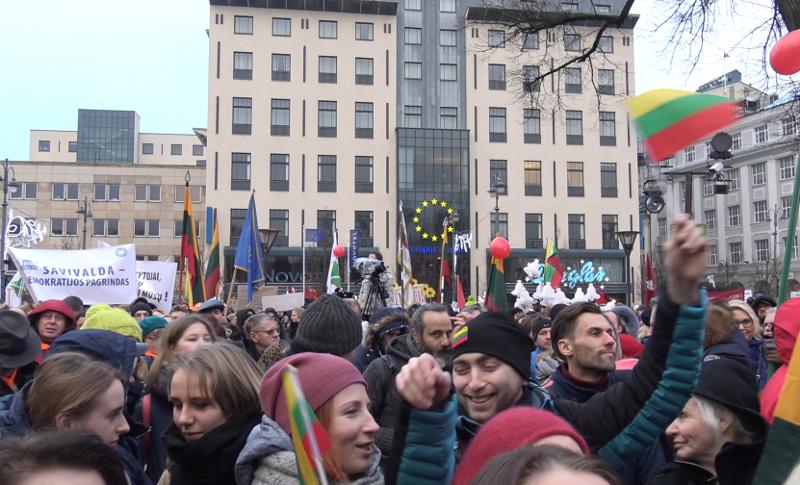 2018 m gruodžio 10 d. mitingas prie Kudirkos paminklo Vilniuje
