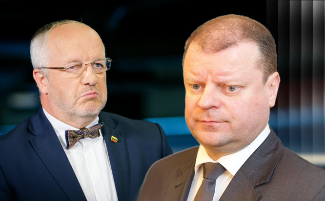 J.Olekas ir S. Skvernelis   infa.lt montažas