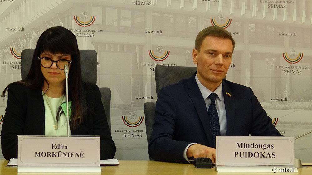 Mindaugas Puidokas ir Edita Morkūnienė