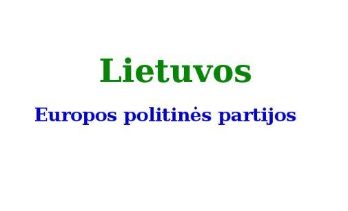 Vyriausybė pritarė Teisingumo ministerijos siūlymui leisti Lietuvoje registruoti Europos politines partijas