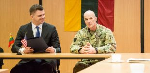 JAV Lietuvos kariuomenei perdavė savo lėšomis įrengtus karinės infrastruktūros objektus