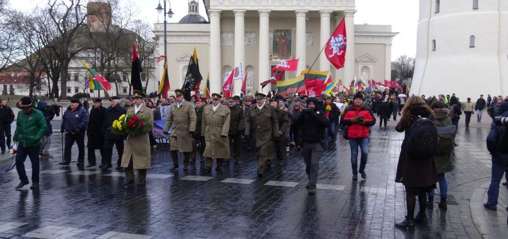 Kovo 11 eitynėse Vilniuje viskas vyko tradiciškai ramiai ir tvarkingai [Video]