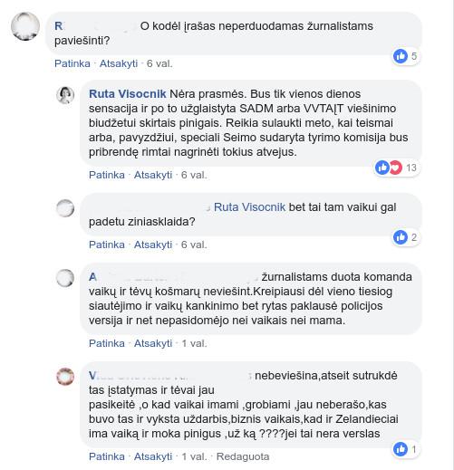 Komentaras po Rūtos Visocnik įrašu