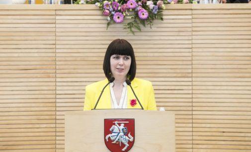 Dovilė Šakalienė traukiasi iš Dainiaus Kepenio vadovaujamos Sveikos gyvensenos komisijos Seime