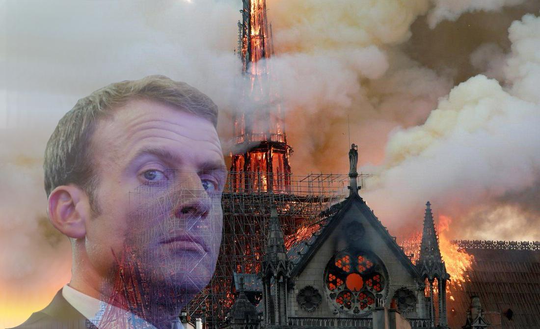 Emanulelis Makronas ir Notre Dame