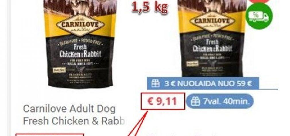 110 sauso šunų maisto prekių ženklų Lietuvoje. Kainų tyrimas