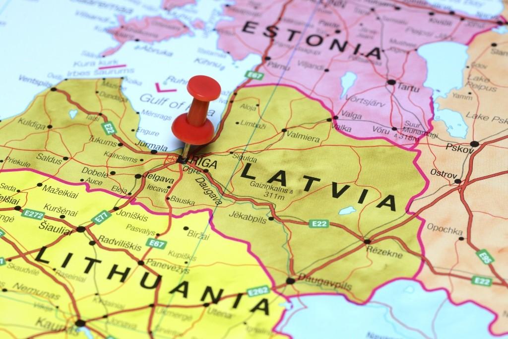 Baltijos šalys - žemėlapis