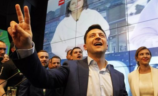 """Apklausa: Į Ukrainos Radą praeina penkios partijos, pirmauja """"Liaudies tarnas"""""""