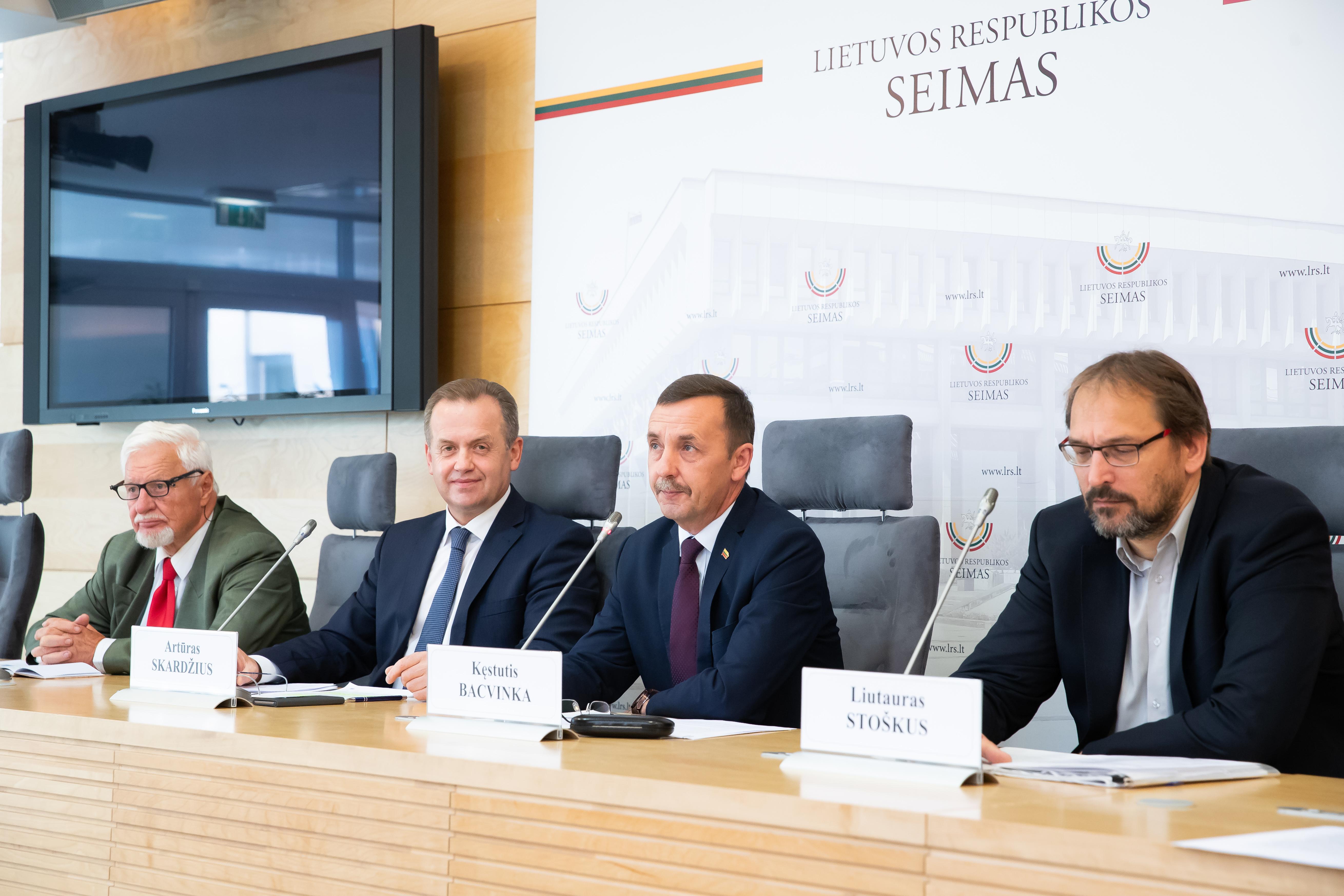 Artūro Skardžiaus, Kęstučio Bacvinkos spaudos konferencija