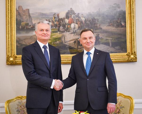 Prezidentas G. Nausėda ir Lenkijos prezidentas A. Duda