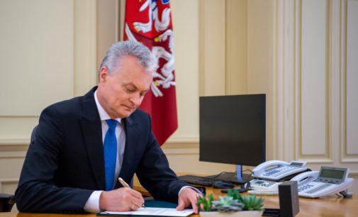 Lietuvos prezidentas nepasirašė įstatymo suteikiančio teisę partijoms neatlygintinai naudotis valstybės turtu