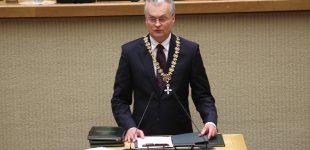 Lietuvos Respublikos Prezidento Gitano Nausėdos kalba Seimo posėdyje