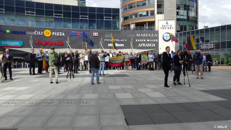 Mitingas prie Vilniaus Savivaldybės, Europos aikštėje už K. Škirpos alėjos vardo išsaugojimą