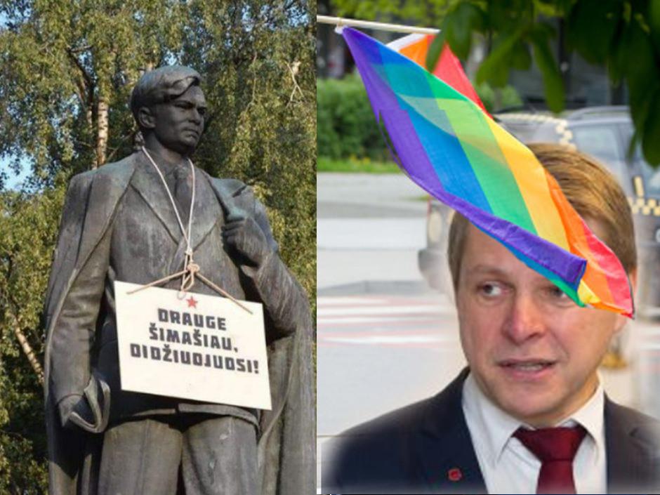 """Palinkėjimas Vilniaus merui - """"Draugas Šimašiau - Didžiuojuosi"""""""